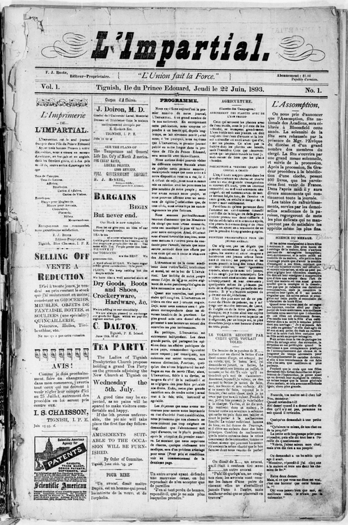 Impartial - Front Page - June 22, 1893